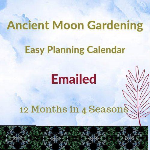 lunar moon gardening calendar emailed
