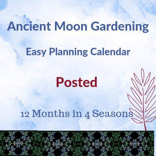 lunar moon gardening calendar posted